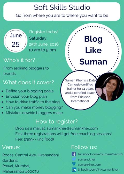 Blog Like Suman is back! – Soft Skills Studio
